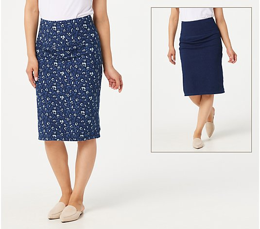Women with Control Prime Stretch Denim Skirt