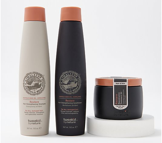 Tweak'd by Nature Shampoo, Conditioner & Restore Oil Auto-Delivery