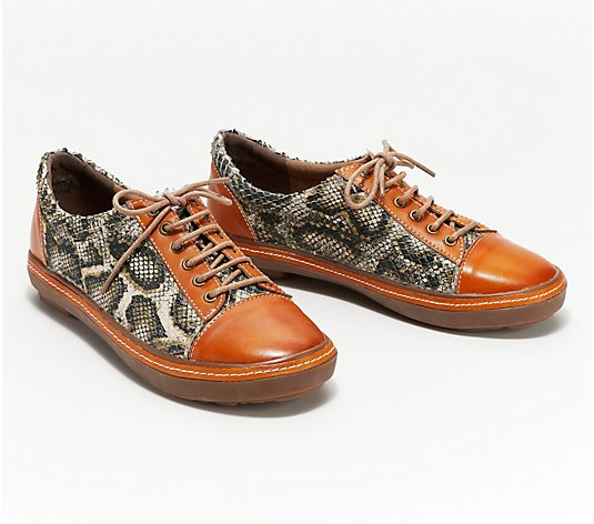 L'Artiste by Spring Step Leather Sneakers- Libbi-Python
