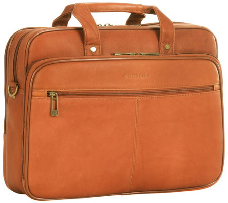 "Heritage Leather 16"" Laptop Portfolio"