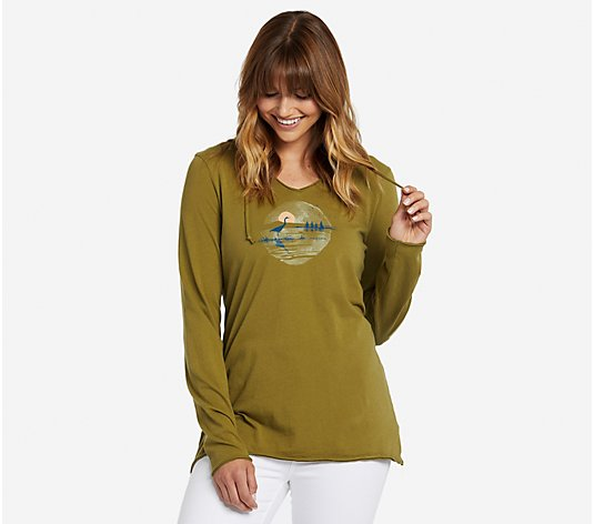 Life is Good Heron Hooded Smooth T-Shirt