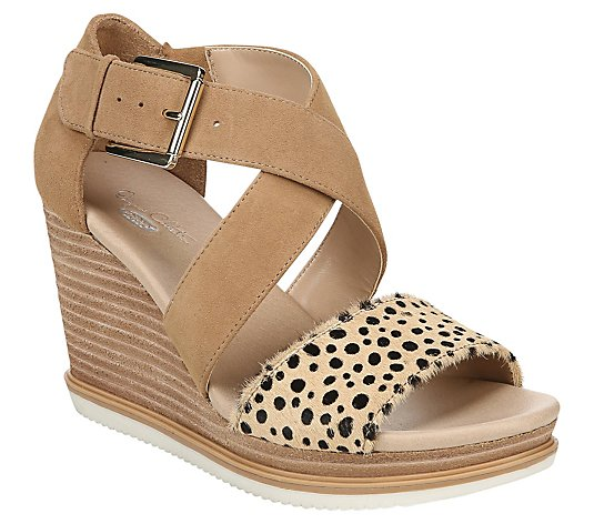 Dr. Scholl's Crisscross Wedge Sandals - Sweet Escape