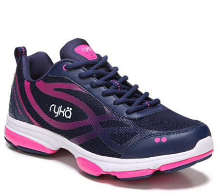 Ryka Cushioned Lace-up Training Shoes - Devotio n XT