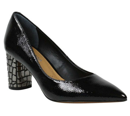 J. Renee Pointed-Toe Embossed Heel Pumps - Vaneeta