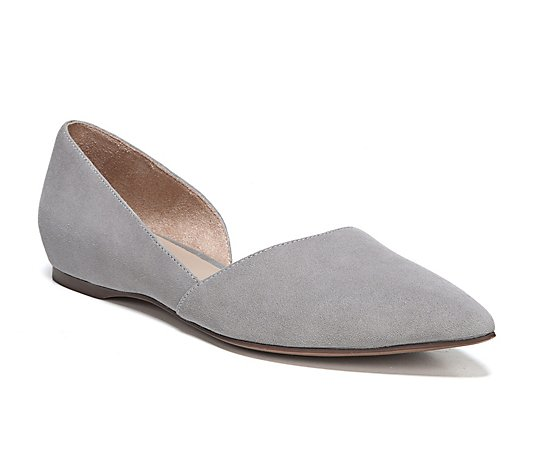 Naturalizer Open Shank Leather Flats - Samantha