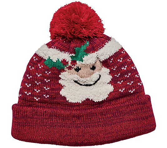 San Diego Hat Co. Santa Knit Beanie with Pom