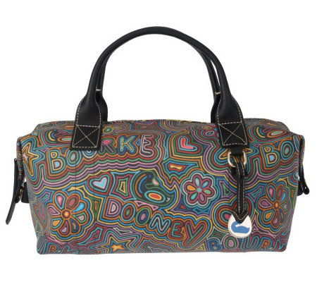 Dooney Bourke Signature Coated Pop Novelty Duffel Bag