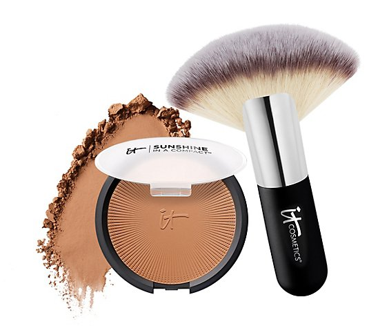 IT Cosmetics Sunshine in a Compact Matte Anti-Aging Bronzer w/Brush