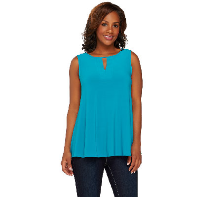 Attitudes by Renee Sleeveless Knit Top with Keyhole Detail