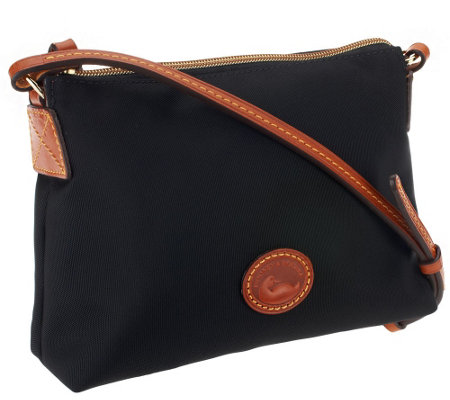 """As Is"" Dooney & Bourke Nylon Crossbody Pouchette Bag"