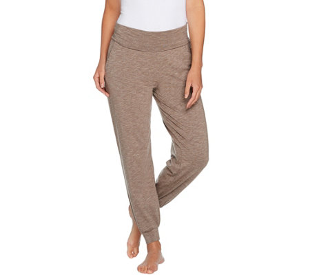 AnyBody Loungewear Cozy Knit Foldover Waist Jogger Pants