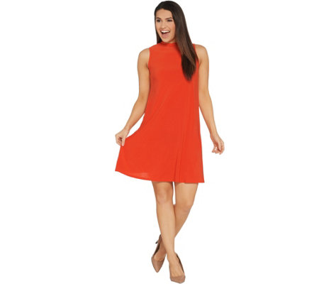 Attitudes by Renee Petite Como Jersey Sleeveless Mock Neck Dress
