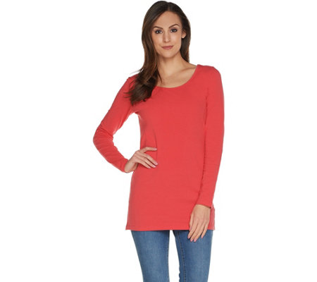 Wicked by Women with Control Petite Essentials Long Sleeve Tunic
