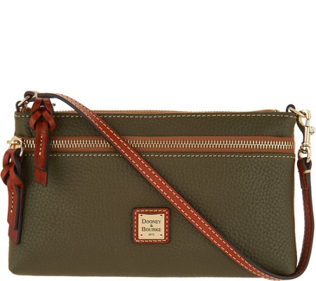 Dooney & Bourke Pebble Leather Zip Top Wristlet