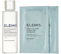 ELEMIS White Flowes Eye Make-Up Remover with 2pk Eye Masks - A308269