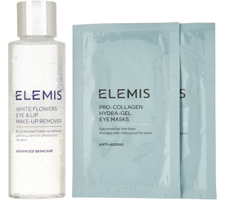 ELEMIS White Flowes Eye Make-Up Remover with 2pk Eye Masks