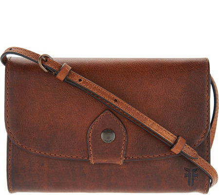 a05ec211561e Frye Leather Melissa Wallet Crossbody Bag — QVC.com