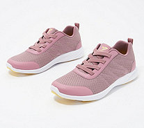 Vionic Mesh Gored-Lace Sneakers - Shay - A309169