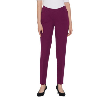 Isaac Mizrahi Live! 24/7 Stretch Slim Leg Pants with Pockets