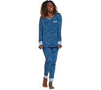 Carole Hochman Petite Interlock Paisley Dot Lounge Set - A310269