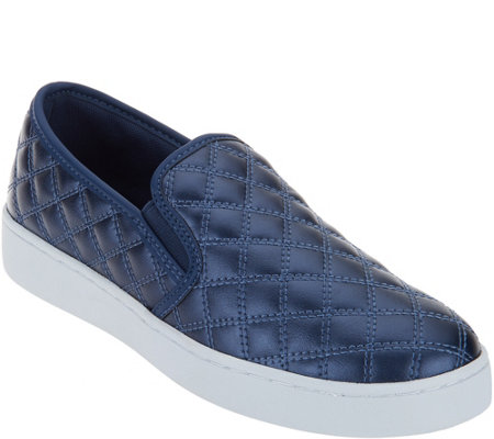 """As Is"" Isaac Mizrahi Live! SOHO Quilted Slip-On Sneakers"