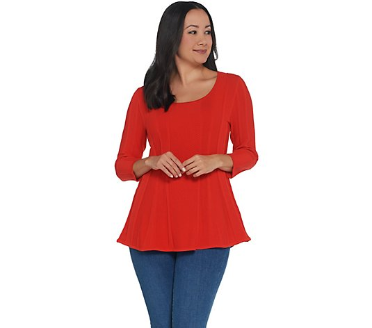 Attitudes by Renee 3/4 Sleeve Peplum Sweater Top