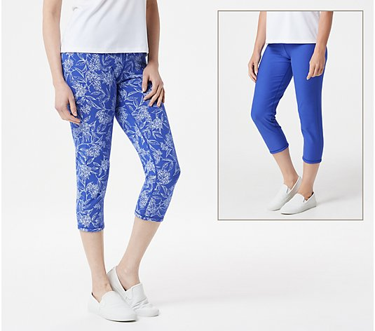 Women with Control Renee's Reversible Regular Crop Pants