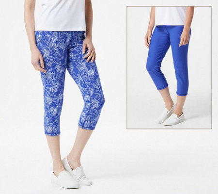 Women With Control Renee S Reversible Regular Crop Pants