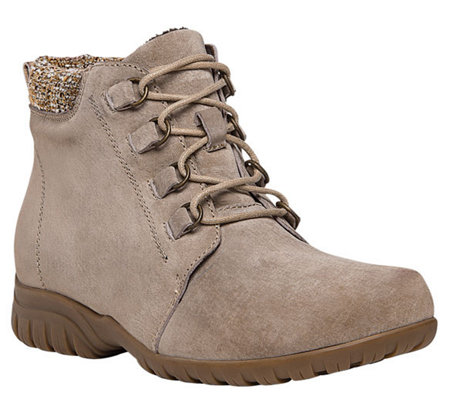 Propet Suede Ankle Boots - Delaney