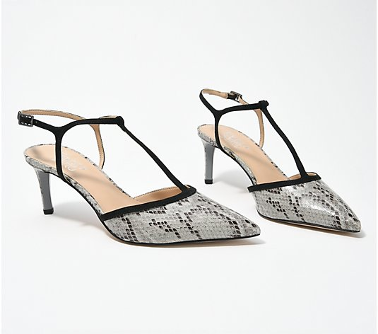 Franco Sarto Pointy Toe T-Strap Pumps - Jubilant