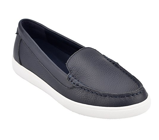 Easy Spirit Leather Slip-on Boat Shoes - Board