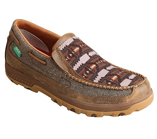 Twisted X Men's CellStretch Slip-On Moccasins -Dust & Multi