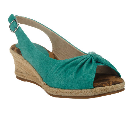 Easy Street Espadrille Wedge Sandals - Monica