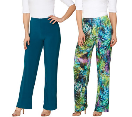 Attitudes by Renee Tall Printed and Solid Knit Pants Set