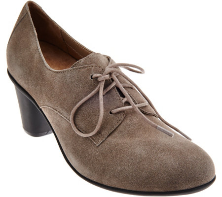 Vionic Orthotic Leather Lace-up Pumps - Maura
