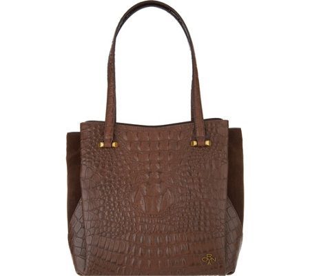 """As Is"" orYany Embossed Leather Shoulder Bag- Alyssa"