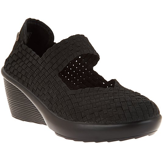 Bernie Mev Basket Weave Wedge Mary Janes - Fresh Lulia