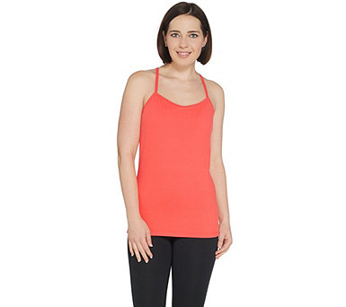 Susan Lucci Collection Tank with Binding Racer Back Straps - A308270