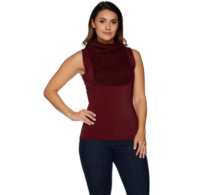 """As Is"" Kathleen Kirkwood Rib Cowl Neck Camisole"