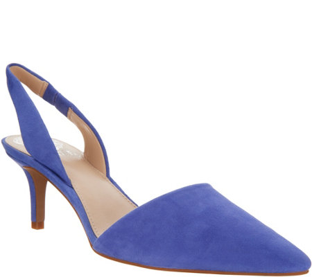 34f1f166075b Vince Camuto Leather or Suede Slingback Pumps - Kolissa - Page 1 ...