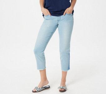Belle by Kim Gravel TripleLuxe Denim Shadow Cropped Jeans - A350470
