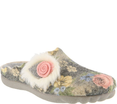 Flexus by Spring Step Indoor/Outdoor Wool Slippers - Fluffball