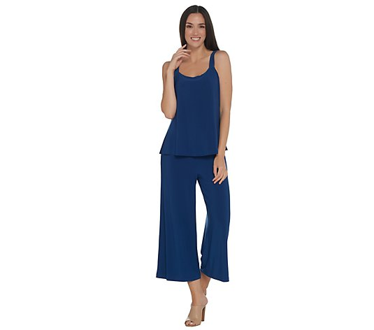 """As Is"" Attitudes by Renee Regular Solid Como Jersey Jumpsuit"