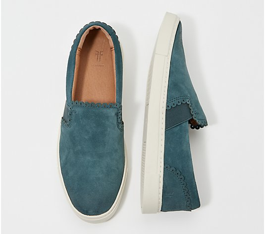 Frye Suede Slip-On Sneakers - Ivy Scallop