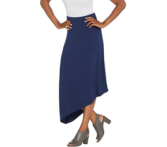 """As Is"" Lisa Rinna Collection Solid Midi Skirt"