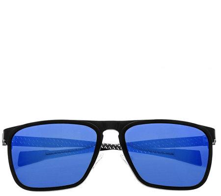 4d3344efc759 Breed Capricorn Polarized Titanium Sunglasses — QVC.com