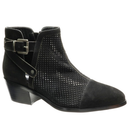 David Tate Nubuck Leather Booties - Prize