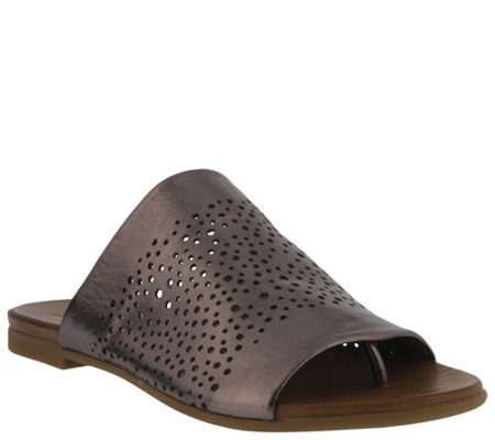 Spring Step Leather Thong Sandals - Geti