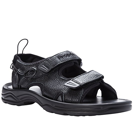Propet Men's Leather Walking Sandals - SurfWalker II