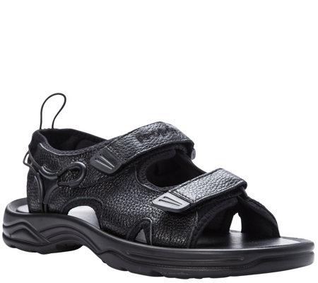 8c0945305 Propet Men s Leather Walking Sandals - SurfWalker II — QVC.com